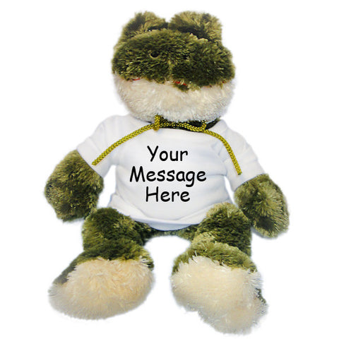 Personalized Stuffed Frog - 12 inch
