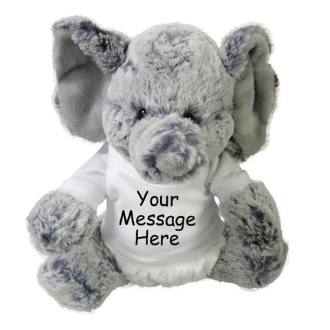 Personalized Stuffed Elephant - 11 inch Aurora Plush Elio Elephant