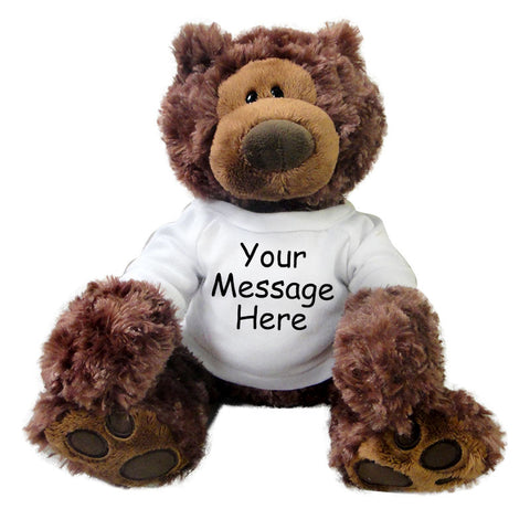 Personalized Teddy Bear - 12 inch Gund Philbin Bear, Chocolate Brown