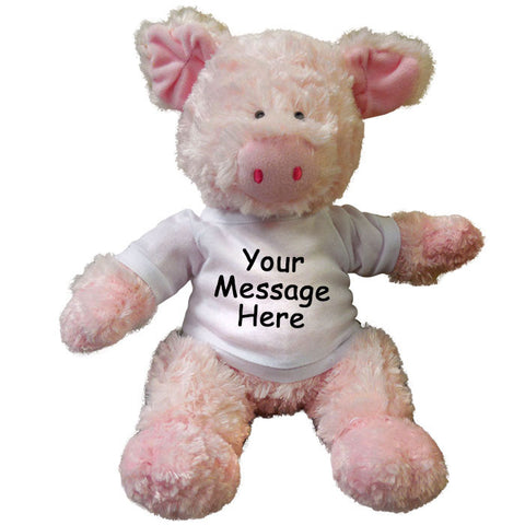 Personalized Stuffed Pig - 12 inch Aurora Tubbie Wubbies Pig