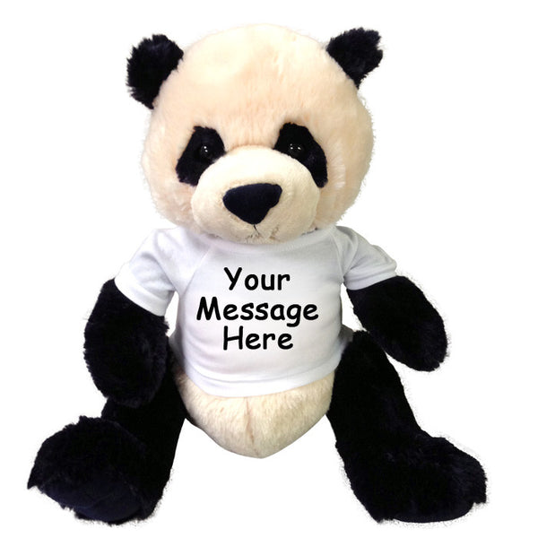 Personalized Stuffed Panda Bear Gund Zibo Say It With
