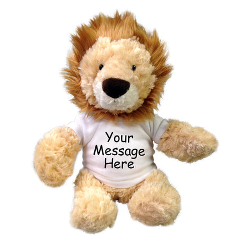 Personalized Stuffed Lion - Aurora Plush Tubbie Wubbie, 12""