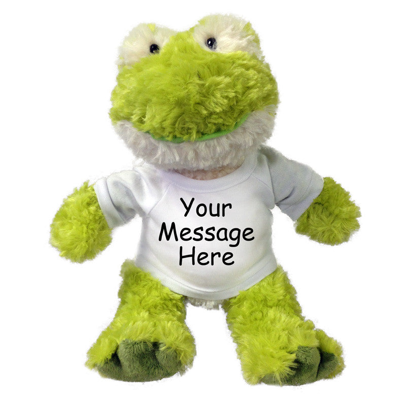 Personalized Stuffed Frog - 12 inch Aurora Tubbie Wubbies Frog