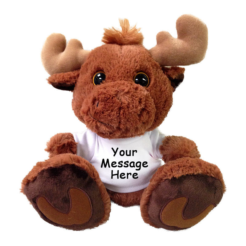 "Personalized Stuffed Moose - 10"" Aurora Plush Taddle Toes Maple Moose"