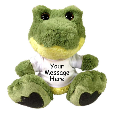 "Personalized Stuffed Crocodile - 10"" Aurora Plush Taddle Toes Alligator"