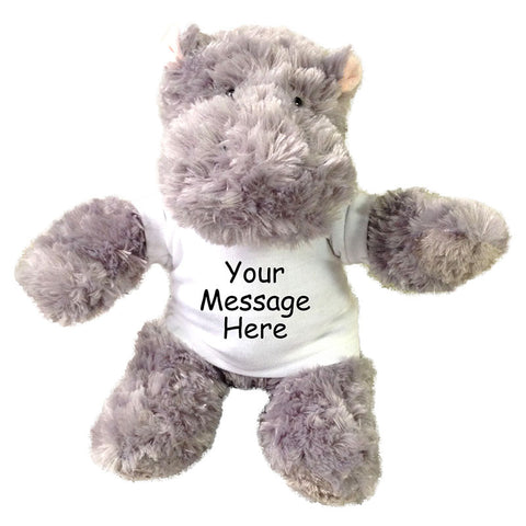 Personalized Stuffed Hippo - 12 inch Aurora Plush