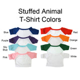 Shirt colors for baseball teddy bears