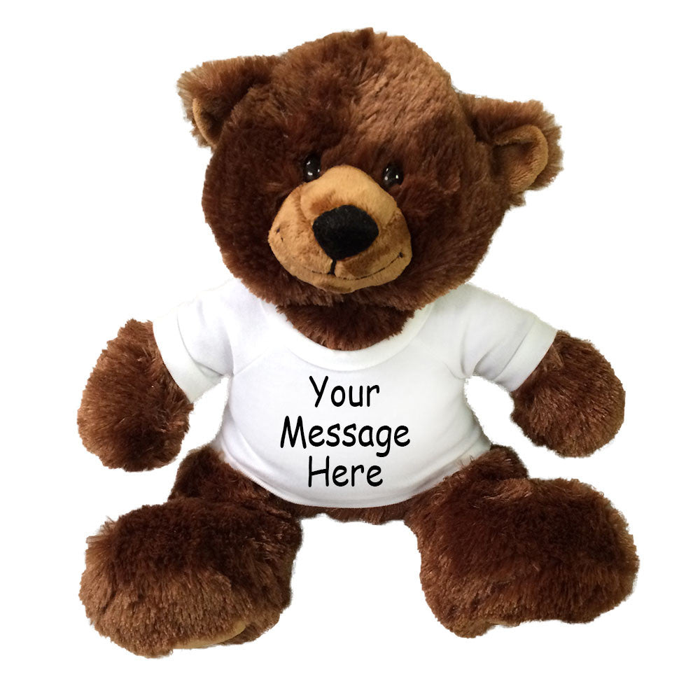 Personalized Teddy Bear - Aurora Plush Brown Buxley Bear