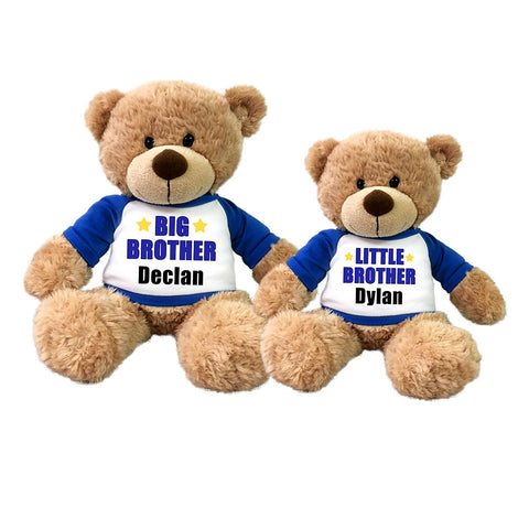 Big Brother/ Little Brother Teddy Bears - Set of 2 Bonny Bears