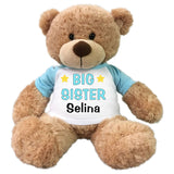"Personalized Big Sister Teddy Bear - 13"" Bonny Bear Light Blue"