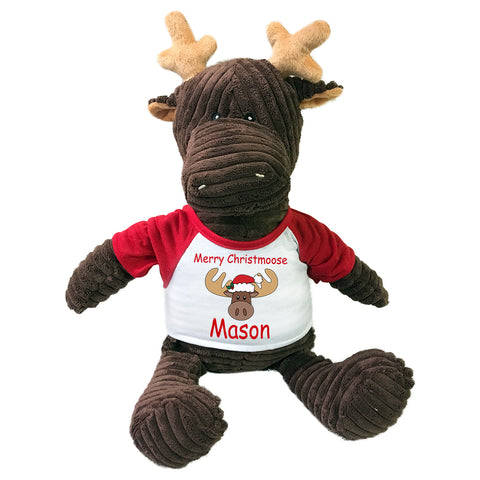 "Personalized Plush Christmas Moose - 16"" Kordy Moose"