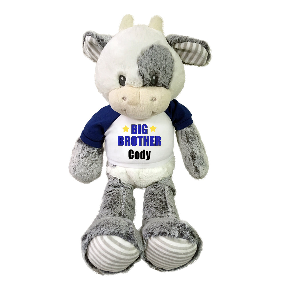 "Big Brother Cow - Personalized 20"" Plush Coby Cow"