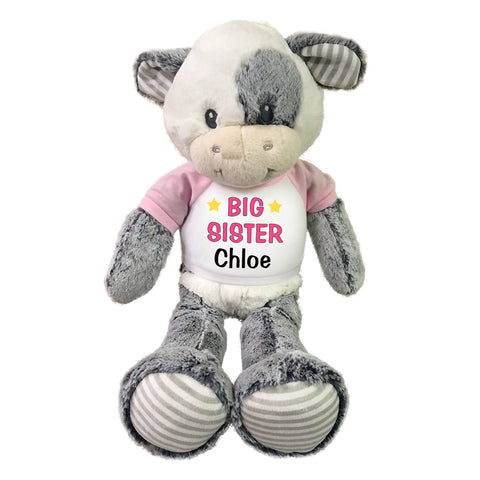 "Big Sister Cow - Personalized 20"" Plush Coby Cow"