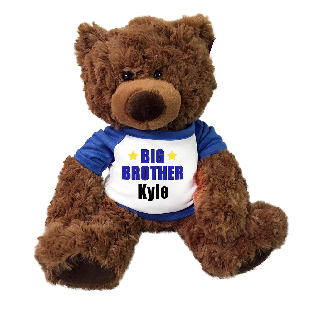 "Big Brother Teddy Bear - Personalized 13"" Coco Bear"