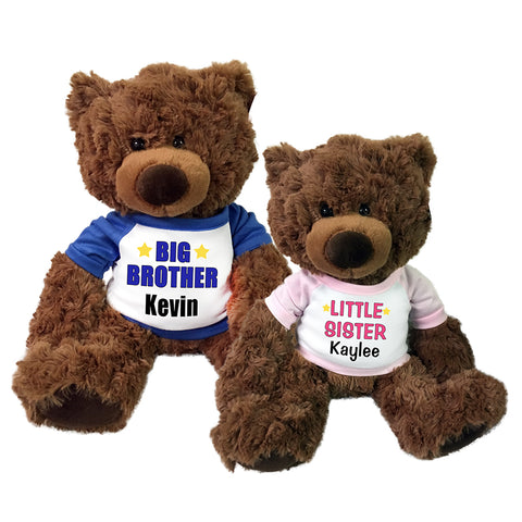 Big Brother / Little Sister Teddy Bears - Set of 2 Coco Bears