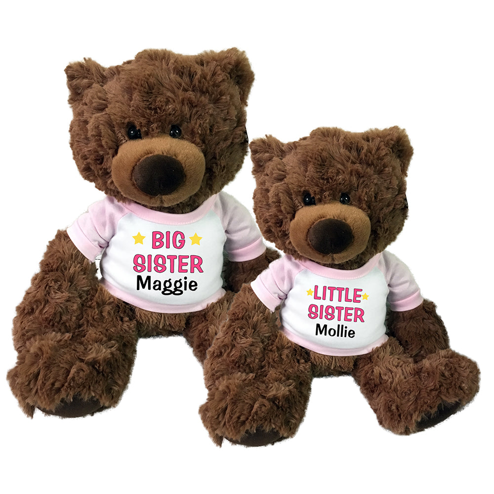 Big Sister / Little Sister Teddy Bears - Set of 2 Coco Bears