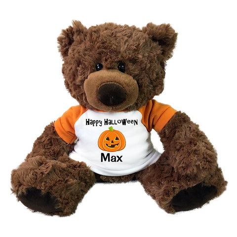 "Personalized Halloween Teddy Bear - 13"" Coco Bear"