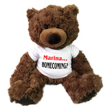 "Personalized homecoming invitation teddy bear - 13"" Coco bear"