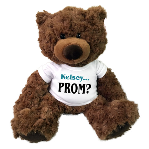 "Personalized Prom invitation teddy bear - 13"" Coco Bear"