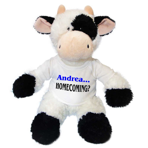 Personalized Stuffed Homecoming Cow