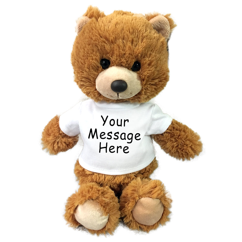Personalized Teddy Bear- 10 inch Small Cuddle Pals Bear