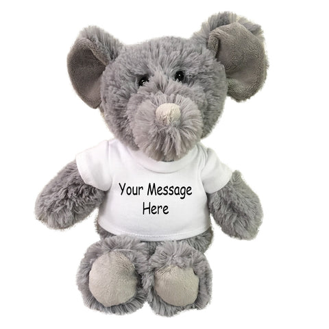 Personalized Stuffed Elephant - 10 inch Small Cuddle Pals Elephant