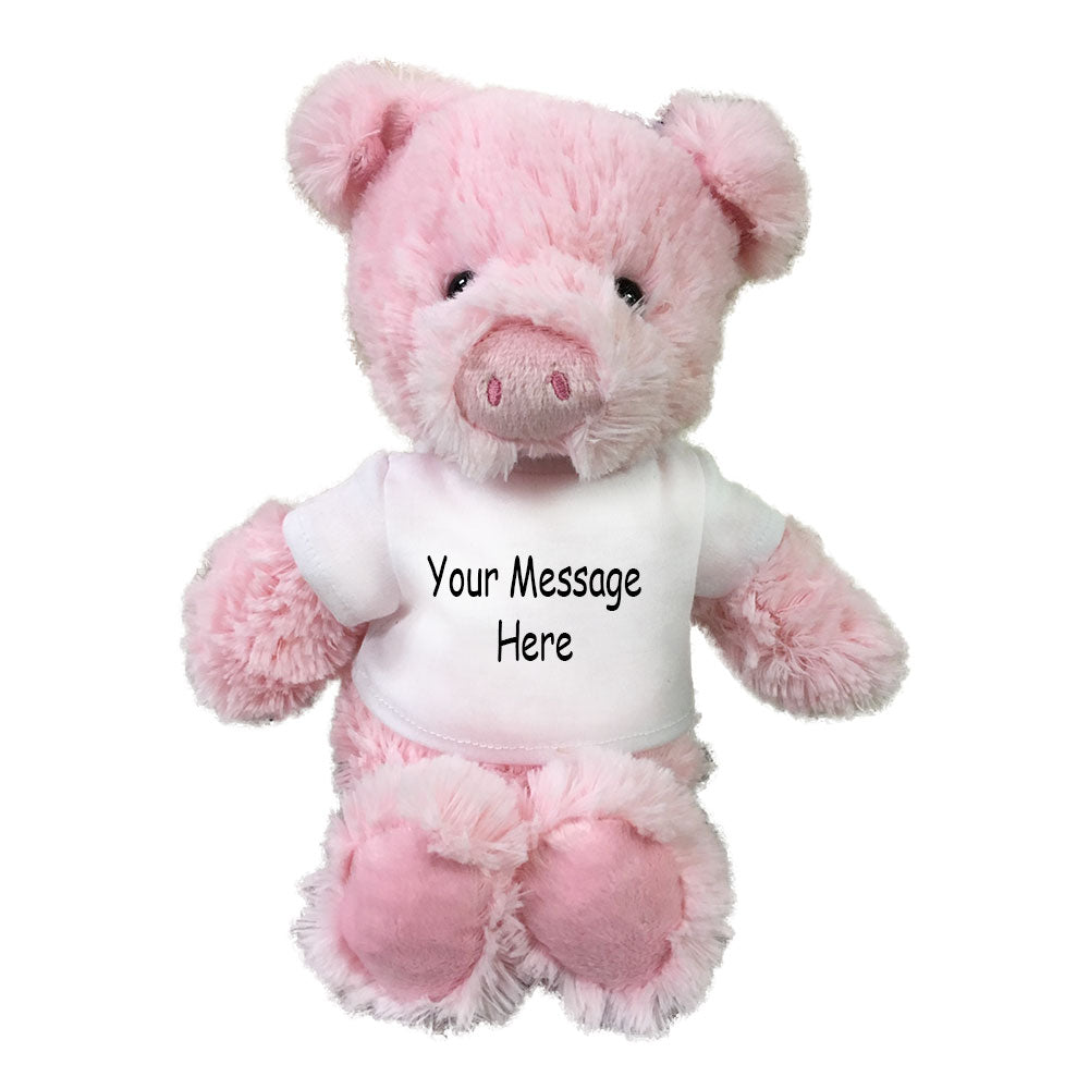 Personalized Stuffed Pig - 10 inch Small Cuddle Pals Pig