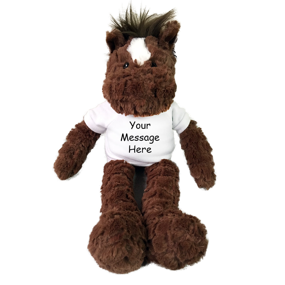"Personalized Stuffed Horse - 14"" Aurora Plush Fuffles Horse"