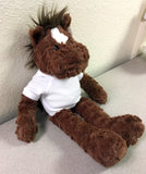 Personalized Plush Fuffles Horse, side view