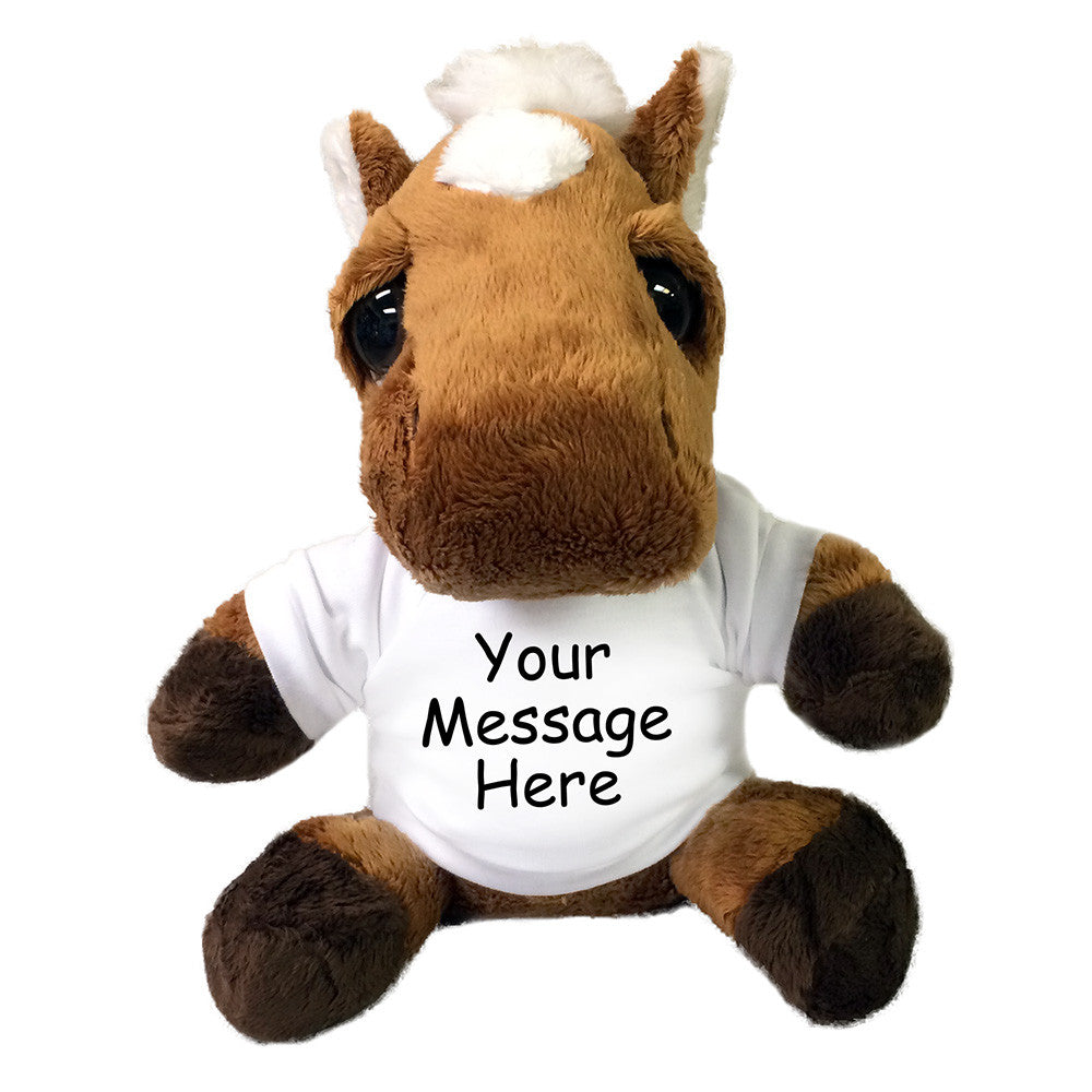 Personalized Plush Donkey Or Horse Stuffed Animal Gift Say It With