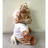 "11"" personalized stuffed horse, side view"