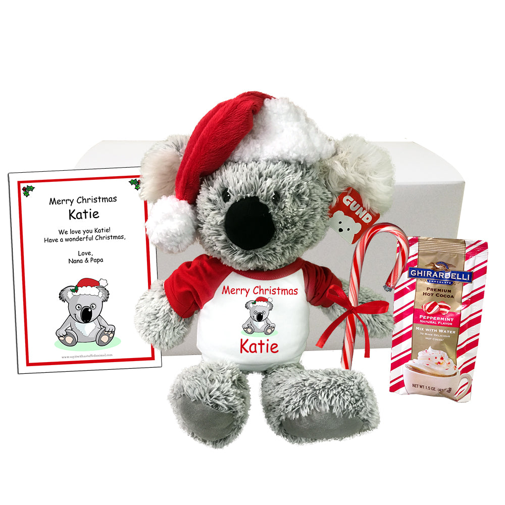 "Personalized Christmas Koala Gift Set - 12"" Gund Koala"