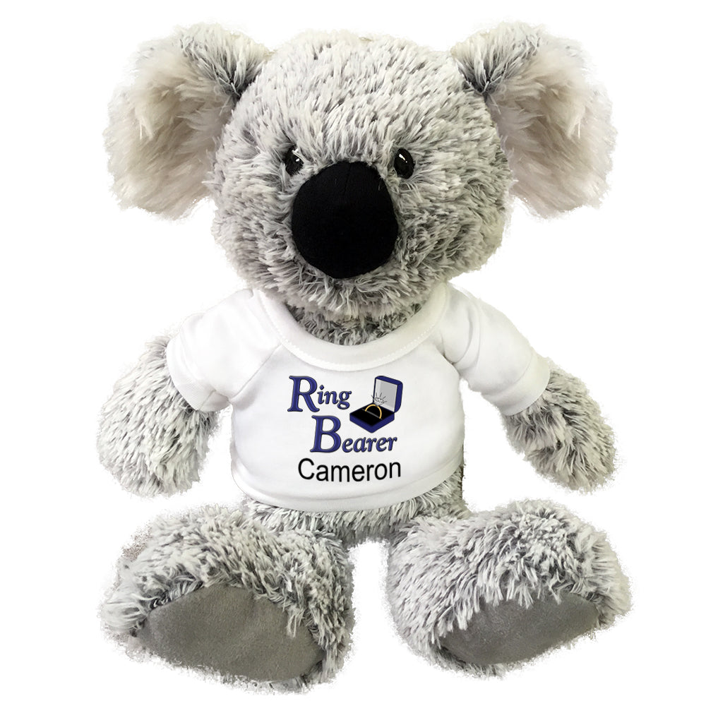 "Personalized Ring Bearer Koala Bear - 12"" Plush Gund Koala"