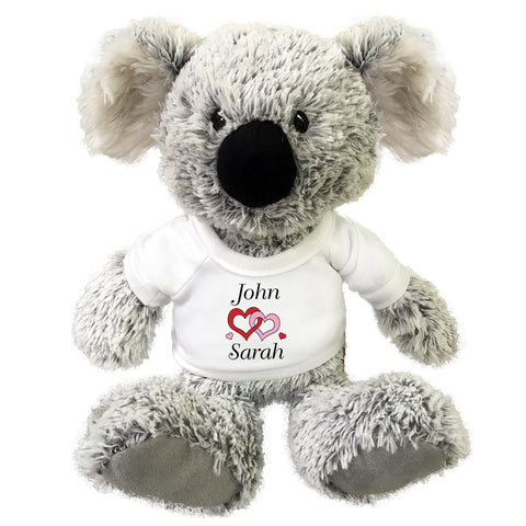 "Personalized Valentine or Love Koala - 12"" Stuffed Gund Koala"