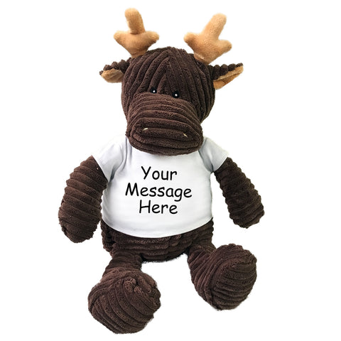 Personalized Stuffed Moose - 16 inch Kordy Moose