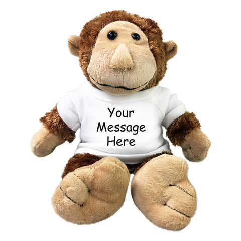 Personalized Stuffed Monkey - 12 inch