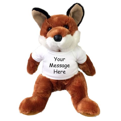"Personalized Stuffed  Fox - 14"" Vixen Fox by Douglas Cuddle Toys"
