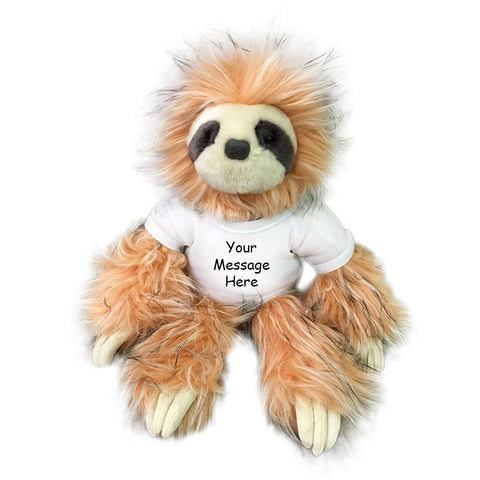 Personalized Stuffed Sloth - 14 inch Skyler Sloth