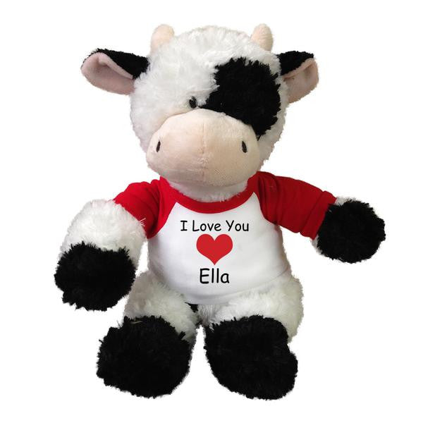 "Personalized Valentine Cow - 12"" Plush Tubbie Wubbie Cow"