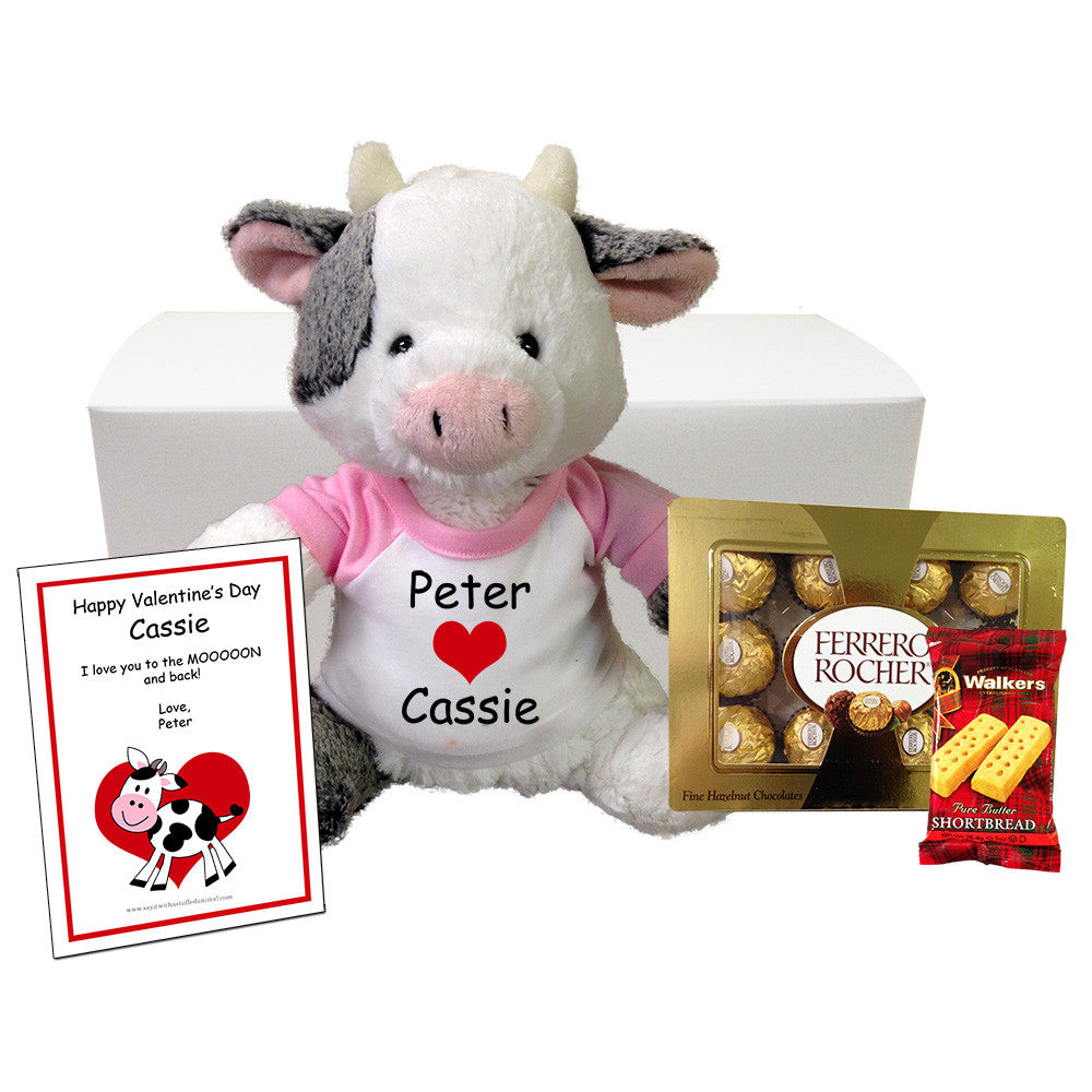 Valentine Cow Personalized Gift Set