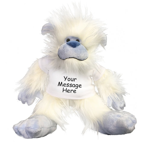Personalized Stuffed Yeti / Abominable Snowman by Aurora Plush, 16 inches