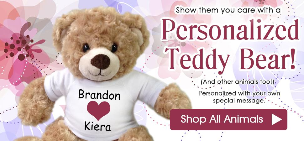 Personalized Teddy Bears and Stuffed Animals for any occasion