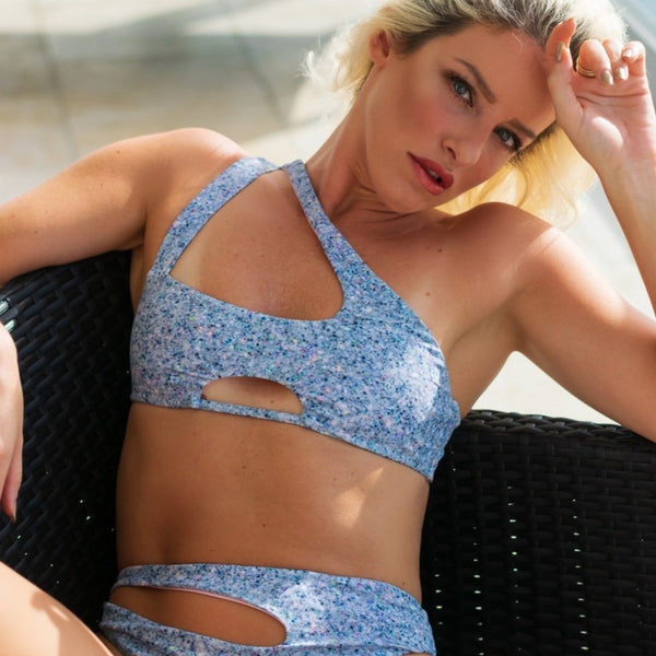 Diamond Bay Reversible Bikini in Glitterati / Taffy