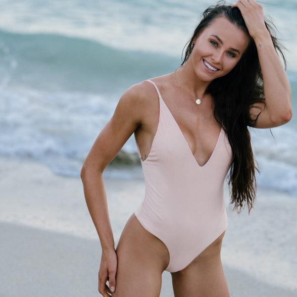 Emerald Beach One Piece in Astral Reversible
