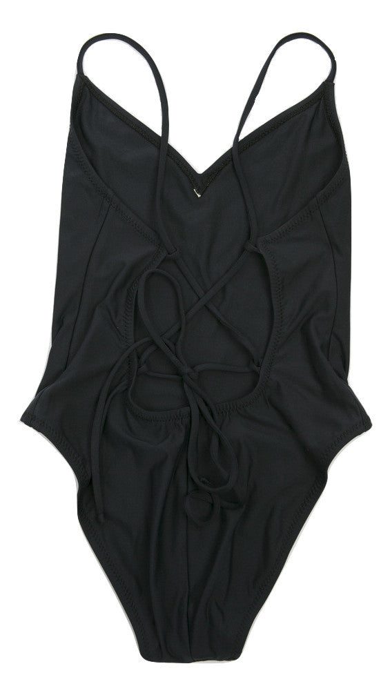 Emma Black One-Piece Swimsuit by Ele Swims