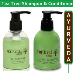 Natural Vibes Ayurvedic Tea Tree Shampoo & Conditioner Combo (Pack of 2)