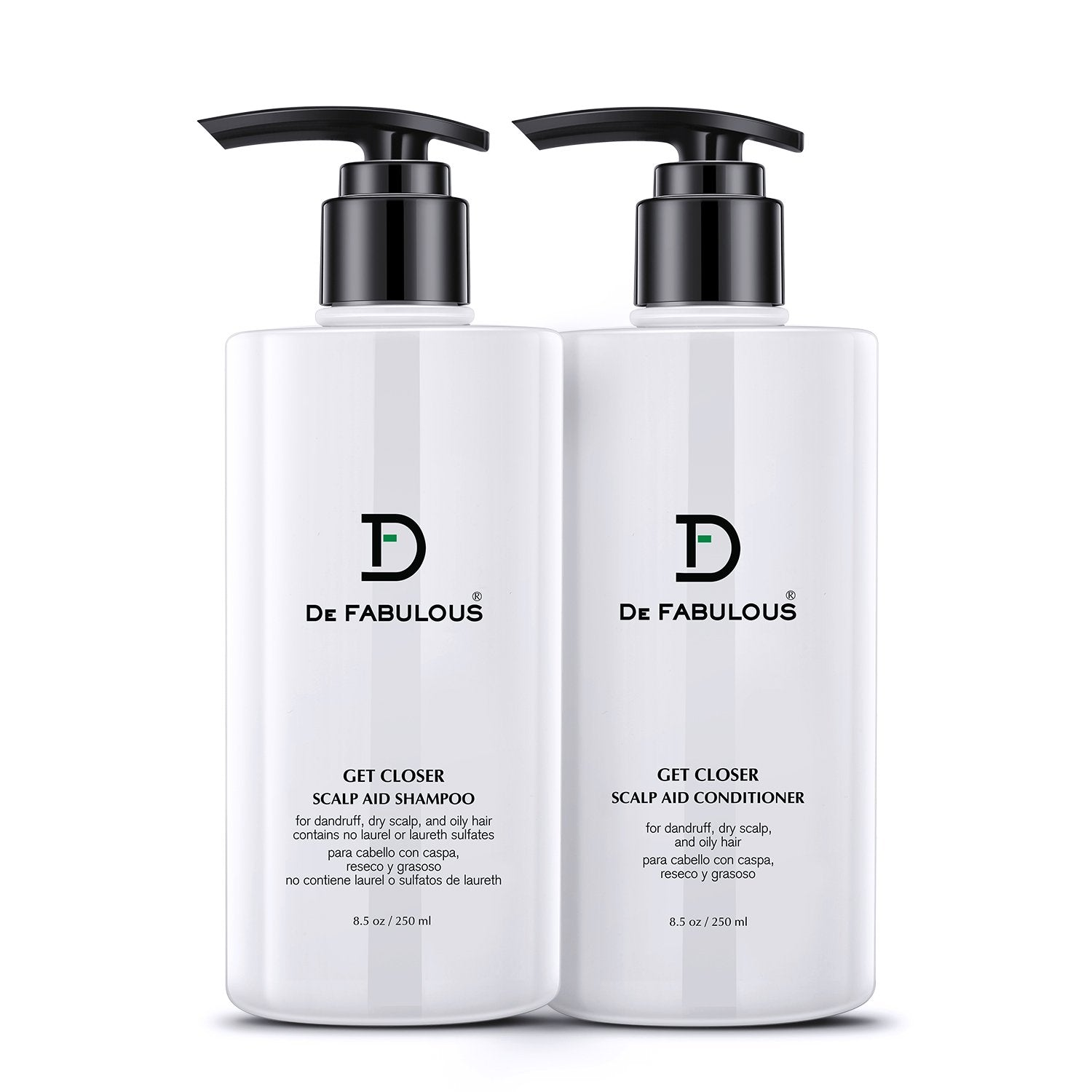 De Fabulous Get Closer Scalp Aid Shampoo & Conditioner 250ml Each (Pack of 2)