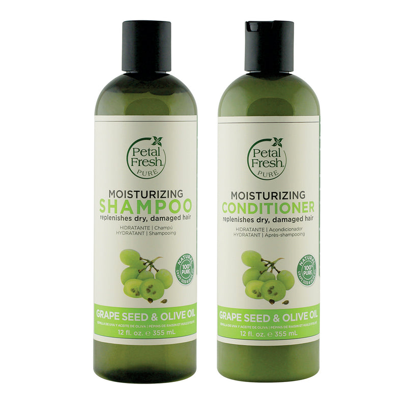 Petal Fresh Moisturizing Grapeseed  & Olive Oil Shampoo + Conditioner 355 ML Each