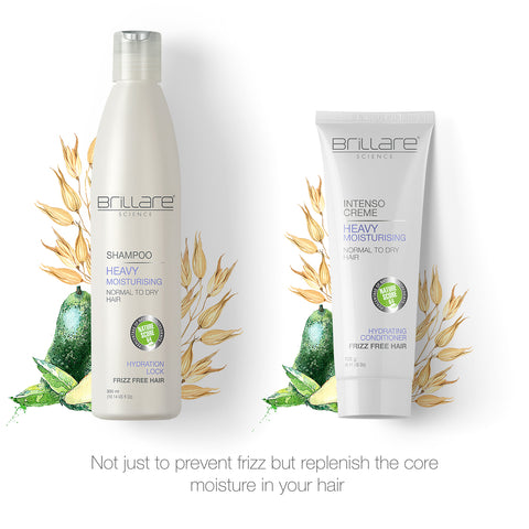 Brillare Heavy Moisturising Treatment Combo For Dry, Frizzy Hair (Set of 3)
