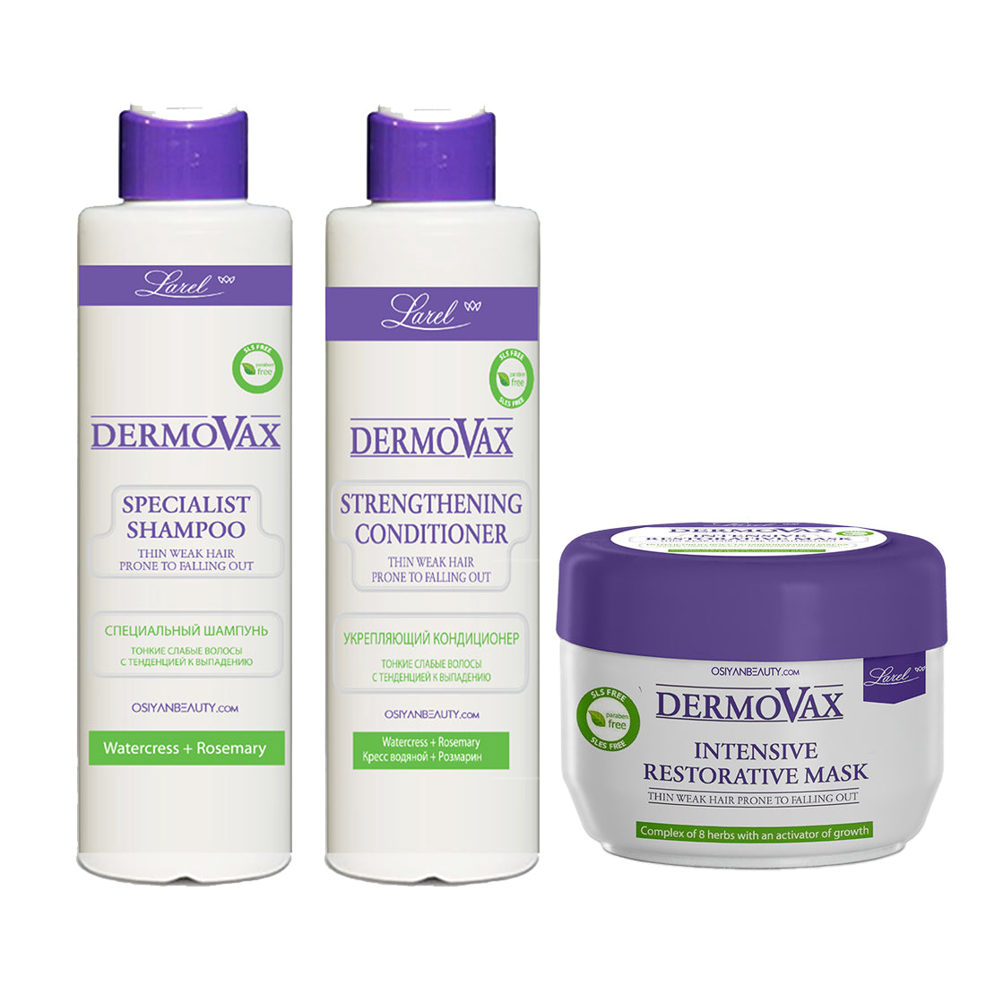 Larel Dermovax Specialist Anti-Hair Loss Combo (Shampoo+Conditioner+Mask)